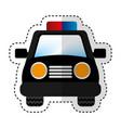 police patrol car icon vector image vector image