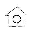 recycle house symbol cartoon vector image vector image