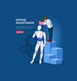 robotics web banner vector image vector image