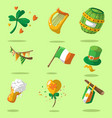 saint patrick s day set vector image