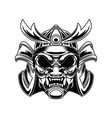 samurai helmet in tattoo style isolated on white vector image vector image