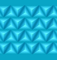 seamless blue ethno pattern with 3d geometric vector image vector image