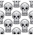 seamless pattern angry stylized skulls vector image vector image