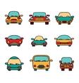 set of cartoon cars vector image