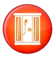 Shower cabin icon flat style vector image