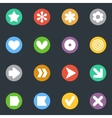 Simple stickers icon in the circle set vector image vector image