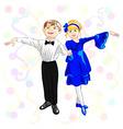 small elegant dancers vector image vector image