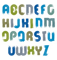 smudge font with paint stains handwritten vector image vector image