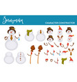 snowman christmas character constructor body parts vector image vector image