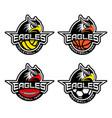 sport mascot set vector image vector image