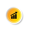 sticker in yellow color with business success vector image vector image