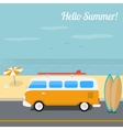 Summer surfing in the ocean beach vector image vector image