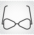 sunglass icon eyewear flat simple business vector image vector image