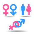 Symbols of men and women vector image vector image