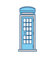 telephone box isolated vector image vector image