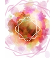 Template for posters with intersecting ornaments vector image vector image