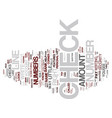 the anatomy of a check text background word cloud vector image vector image