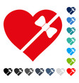 tied love heart icon vector image vector image