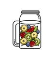 Tropical Detox icon Organic food design vector image vector image