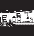 truck service and maintenance vector image vector image