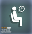 waiting icon symbol on the blue-green abstract vector image vector image