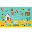 Flat icons set of traveling vector image