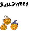Sketch of halloween pumpkin Doodles set with vector image
