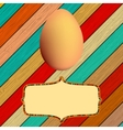 Wooden background with Easter eggs EPS8 vector image
