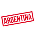 argentina rubber stamp vector image