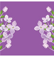 3d realistic floral frame or border vector image