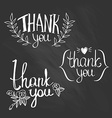 A set of style Thank You design elements vector image