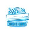 air conditioner ventilation cooling split system vector image