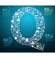Application icons alphabet letters Q design vector image