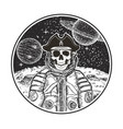 astronaut space pirate modern t-shirt vector image vector image