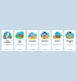 australia website and mobile app onboarding vector image vector image