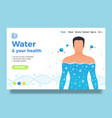 body and water site design vector image vector image