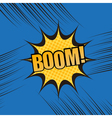 Boom comic book cartoon template vector image vector image