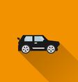 Car icon 2 Long Shadow vector image vector image