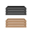 cartoon box set crate wooden container vector image