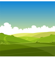 Cartoon Summer Landscape vector image vector image