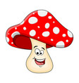 cartoon toadstool character isolated on white vector image