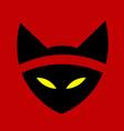 cat ninja a vector image vector image
