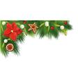 Christmas border fir vector image vector image