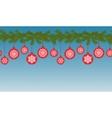 Christmas Seamless Border vector image