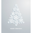 Christmas tree made of paper snowflakes vector image vector image