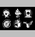coffee shop vintage emblem set cafe store hipster vector image