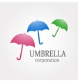 colofrul umbrella logotype Stock vector image vector image