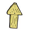 comic cartoon wood arrow symbol vector image