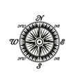 compass vintage monochrome symbol with world sides vector image