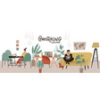 creative co-working center interior shared vector image
